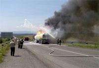 Поблизу Дрогобича горіла цистерна